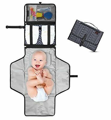 Portable Diaper Changing Pad - Premium Quality Travel Changing Station Kit - Ent