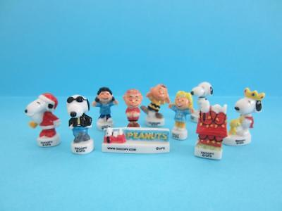 Feves Snoopy and Peanut's gang porcelain Christmas Figurines, Santa Claus *Mint*