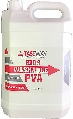 BEST SLIME Glue PVA 5 Litre Washable Aus made $29.95 with cheapest shipping cost
