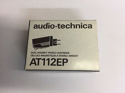 AUDIO-TECHNICA AT-112EP Phono CARTRIDGE + P-MOUNT ADAPTER NEW OLD STOCK!