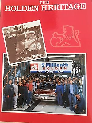 'The Holden Heritage' book, 5 Millionth Holden 29/8/1990 Edition.