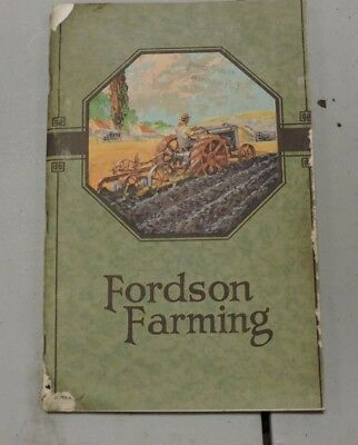 Original Fordson Ford Farming Tractor Book,1921, Addison NY, 3 of 4, (VE) KCK