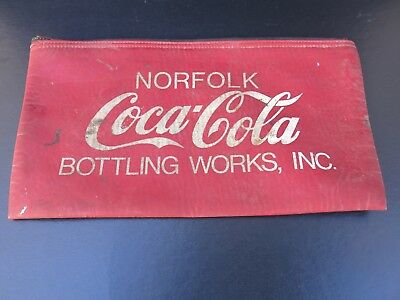 Vintage Coca Cola Money Bag - Norfolk Bottling Works