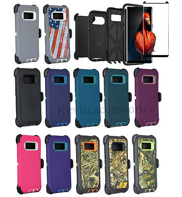 Samsung Galaxy S8 Plus Defender Case Cover Belt Clip Holster & Screen Protector
