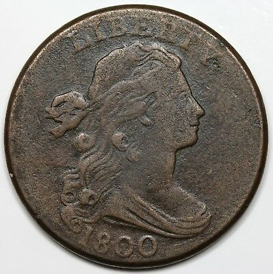 1800 Draped Bust Large Cent, VF detail