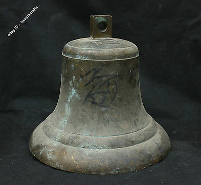 "12"" Collection Chinese Pure Bronze Handmade Bell Chimes Horometer Zhong Marked"