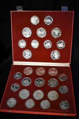 1980 Moscow Proof Silver Olympic - 28 Coin Set - w/case