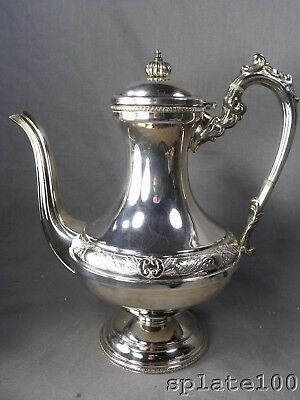 Cavalier English Hand Chased Silver Plate Coffee Pot Stunning Super Condition
