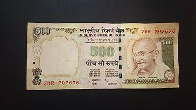 India Currency 500 Five Hundred Rupees - Circulated - 2010 - Mahatma Gandhi