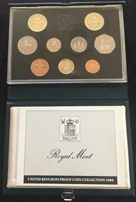 1989 Royal Mint UK Proof Coin Set In Blue Standard Case With C.O.A Great Set