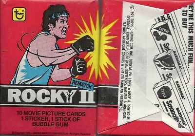 Rocky II - Wax Pack Trading Cards by Topps 1979- Single Pack
