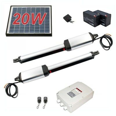 ALEKO Solar Kit Dual Heavy Metal Swing Gate Opener Operator Up To 900-lb