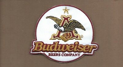New 4 X 4 7/8 Inch Budweiser Iron On Patch Free Shipping A