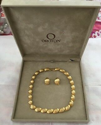 Oroton Necklace and Clip On Earrings