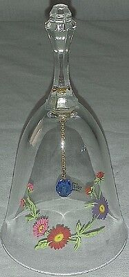 Collectible Vintage Avon Crystal Sept Birthday Bell Aster Flower Sapphire Ringer