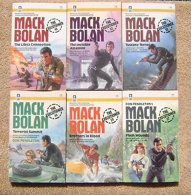 Lot of 6 MACK BOLAN The Executioner Series ~ Paperbacks by Don Pendleton
