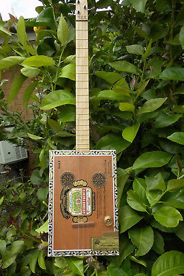 Cigar Box Guitar acoustic/electric built by Jandyb for a Blues Player