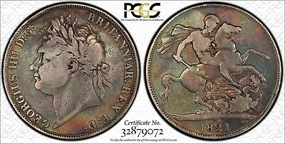 1821 Great Britain Crown PCGS VG08 Very Good Silver UK Vintage Classic Coin