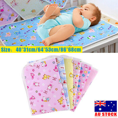 Baby Infant Waterproof Urine Mat & Changing Pad Cover Change Mat - 3 Sizes AU