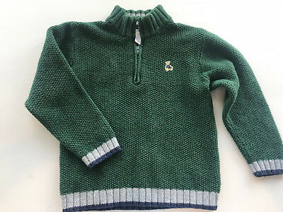 Janie and Jack Holiday Collection BOYS Mock Neck Pullover SWEATER 5T size 5 EUC