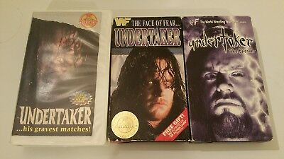 Vhs Wwf Undertaker His Gravest Matches The Face Of Fear Phenom Lot Wcw Tna Wwe