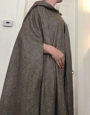 Wool Cape With Hood