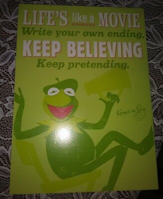 New Hallmark Muppets Kermit The Frog Movie Director Plaque Sign Wall Art Large
