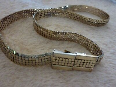 Beautiful Whiting & Davis Mesh Belt Exc. Cond. 67.5 Cm Long 1.5 Cm Wide