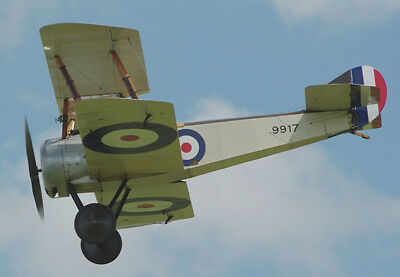"""Model Airplane Plans (RC): Sopwith Pup 1/6 Scale 53"""" Biplane for .46-.60 Engine"""