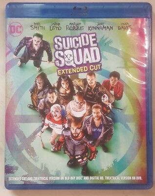 Suicide Squad Extended Cut (Bluray) No DVD No Digital Code No Slipcover