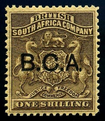 British Central Africa. B.C.A. 1891. 1sh. Bister Brown. SC# 7. SG 7. MH