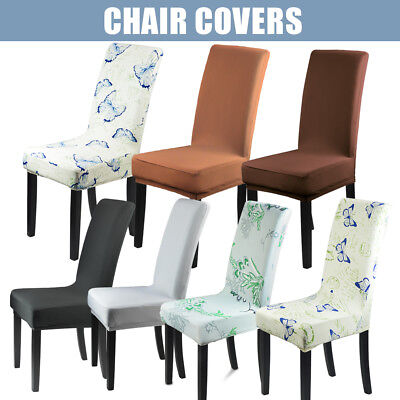 Super Fit Stretch Dining Chair Cover Machine Washable Removable Seat Slipcover