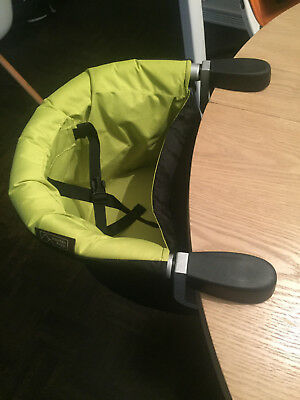 Mountain Buggy Evo Pod Clip-On Portable High Chair In Lime With Carry Bag!