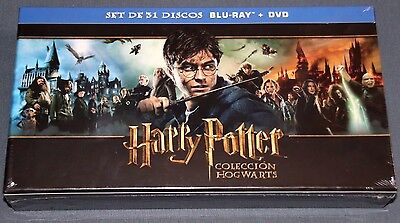 HARRY POTTER Coleccion Completa  HOGWARTS   - 31 DISCOS BLURAY  BLU RAY - DVD