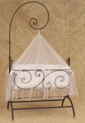 Bratt Decor Zanzibar Casablanca French Wrought Iron Nursery Bassinet Cradle HTF