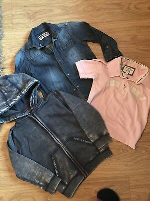Boys Clothes Bundle Age 3-4 Years Including Hoodie, Denim Shirt And Polo Shirt