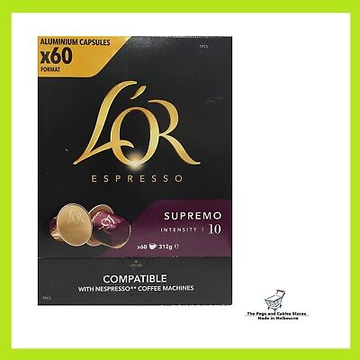 60 capsules L'OR Espresso Supremo Nespresso Compatible Intensity 10