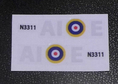 Dinky Spitfire 719 authentic style squadron markings. (AIE)