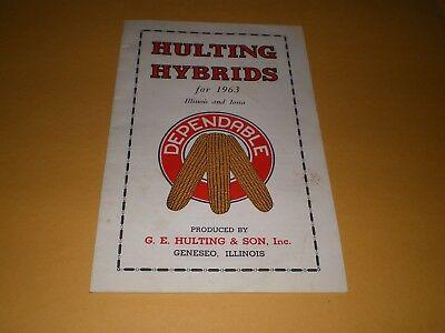 1963 Seed Corn Hulting Hybrids Geneseo IL Advertising Brochure