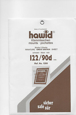 HAWID MOUNTS 122x 90mm BLACK pack of 5
