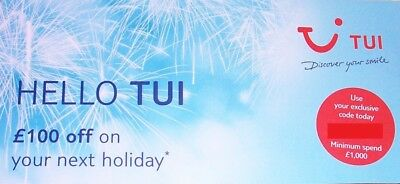 £100 Off Tui Thomson First Choice Voucher **£100 Off**