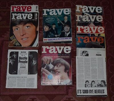 Beatles in Rave - 14 multi-page features from 11 magazines 1964 1966 (details)