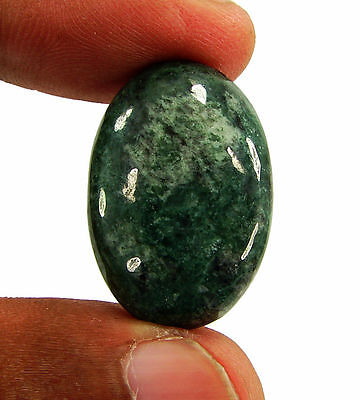 28.35 Ct Natural Green Jade Loose Gemstone Cabochon Stone - 15924