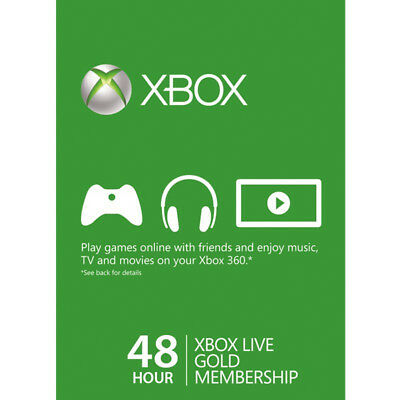 48 Hours Xbox Live Trial Gold Membership Subscription Card -[AU]-FAST DISPATCH