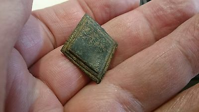 Lovely Roman Bronze chevron mount probably Roman cavalry English find Yorks L536