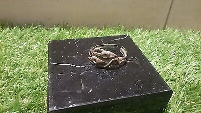 Beautiful post Medieval copper alloy Snake ring, could be made Wearable L269