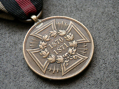 German Empire, Original Franco-Prussian War Campaign Medal 1870/71 with ribbon