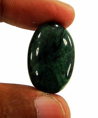 29.50 Ct Natural Green Jade Loose Gemstone Cabochon Stone - 15921