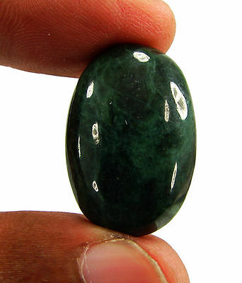 25.20 Ct Natural Green Jade Loose Gemstone Cabochon Stone - 15956