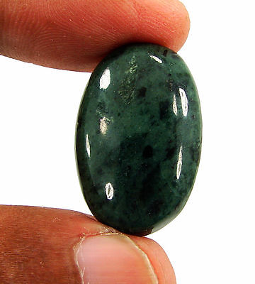 25.40 Ct Natural Green Jade Loose Gemstone Cabochon Stone - 15925